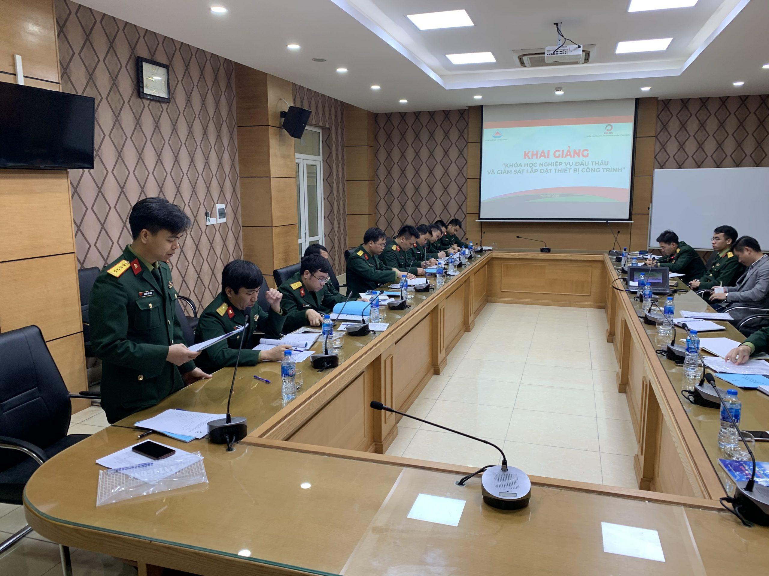 Khai giảng khóa học tại Viện Thiết kế tàu quân sự ngày 04/03/2020